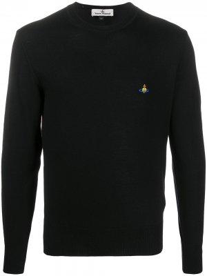 Джемпер с вышитым логотипом Vivienne Westwood. Цвет: черный