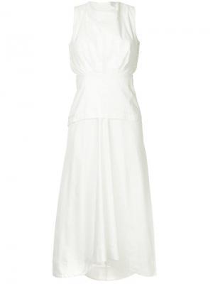 Летнее платье миди CAMILLA AND MARC. Цвет: белый