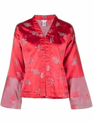 Metallic thread floral jacket Comme Des Garçons. Цвет: красный