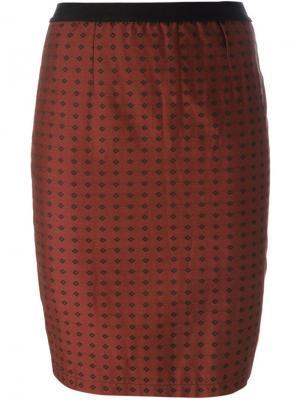Юбка с узором Jean Paul Gaultier Pre-Owned. Цвет: коричневый