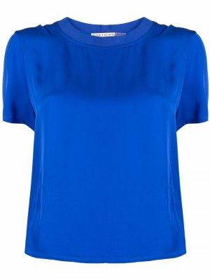 Укороченная футболка Alice+Olivia. Цвет: синий