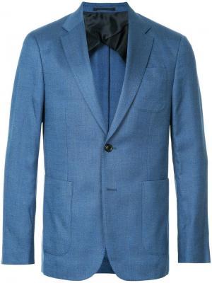 Пиджак в полоску Cerruti 1881. Цвет: синий