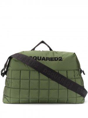 Дорожная сумка с логотипом Dsquared2. Цвет: зеленый