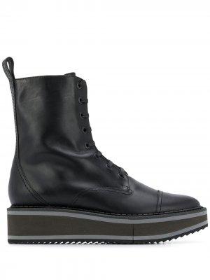 Ботинки на платформе со шнуровкой Clergerie. Цвет: черный