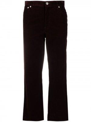 Укороченные вельветовые брюки A.P.C.. Цвет: красный