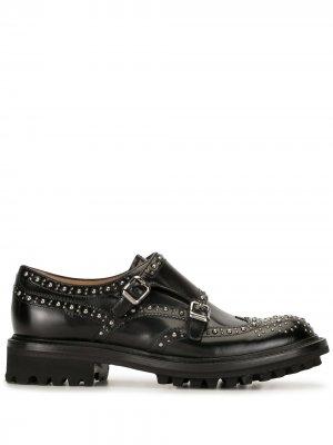 Churchs туфли монки с заклепками Church's. Цвет: черный