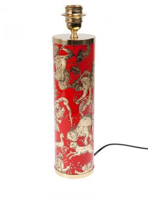 Основание для лампы с принтом Fornasetti. Цвет: красный