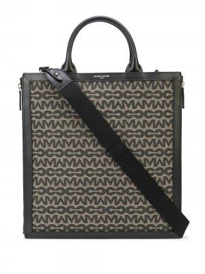 Жаккардовая сумка-тоут Sidney MC Mark Cross. Цвет: черный