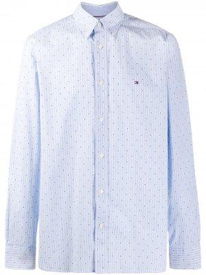 Рубашка с длинными рукавами Tommy Hilfiger. Цвет: синий