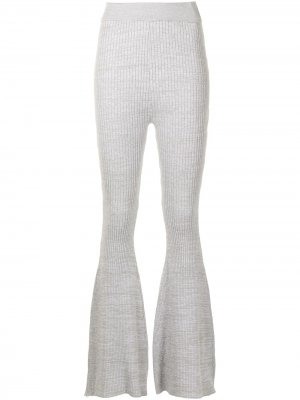 Расклешенные брюки в рубчик Anna Quan. Цвет: серый