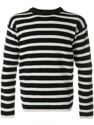 Полосатый свитер S.N.S. Herning. Цвет: черный