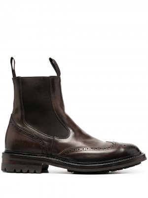 Ботинки челси с брогированием Officine Creative. Цвет: коричневый