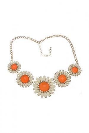 Ожерелье Оранжевые ромашки Victoria Le Land. Цвет: оранжевый