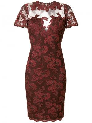 Кружевное платье по фигуре Olvi´S. Цвет: красный