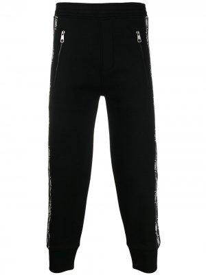 Укороченные спортивные брюки с лампасами Neil Barrett. Цвет: черный