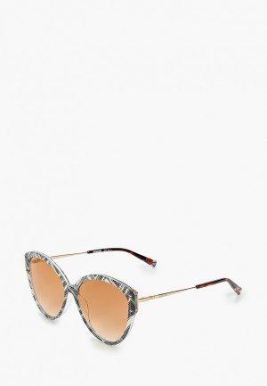Очки солнцезащитные Missoni. Цвет: золотой