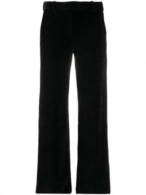 Бархатные брюки прямого кроя Circolo 1901. Цвет: черный