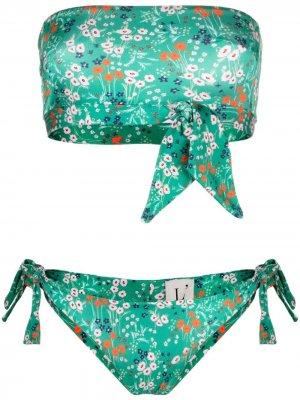 LAutre Chose бикини с лифом-бандо и цветочным принтом L'Autre. Цвет: зеленый