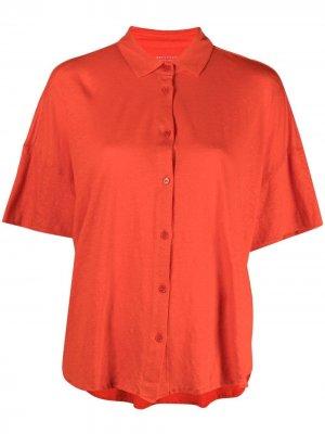 Рубашка с приспущенными плечами и короткими рукавами Majestic Filatures. Цвет: оранжевый