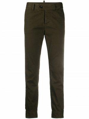 Укороченные джинсы кроя слим Dsquared2. Цвет: зеленый