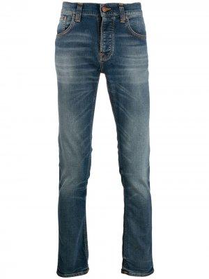 Прямые джинсы Nudie Jeans. Цвет: синий