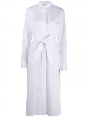Платье-рубашка с завязками Loro Piana. Цвет: белый