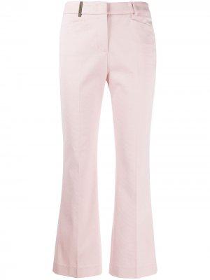 Укороченные расклешенные брюки Peserico. Цвет: розовый