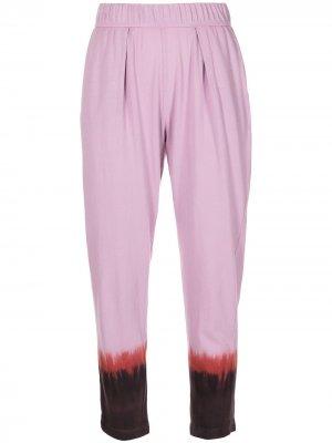 Укороченные брюки Easy с принтом тай-дай Raquel Allegra. Цвет: розовый