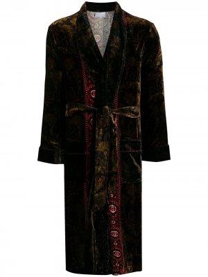 Халат с поясом Pierre-Louis Mascia. Цвет: коричневый