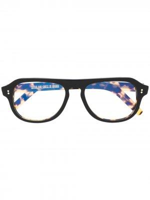 Очки в оправе черепаховой расцветки Cutler & Gross. Цвет: желтый