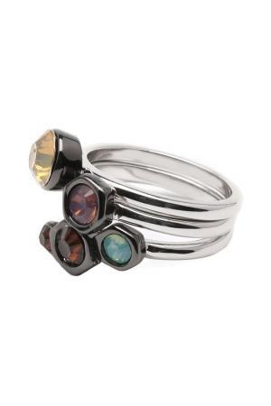 Комплект из 3 колец Inesse M. Цвет: серебряный