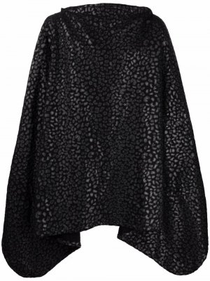Кейп с леопардовым принтом Black Comme Des Garçons. Цвет: черный