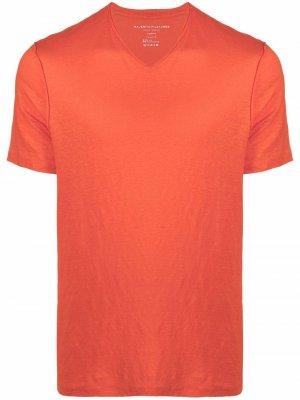 Футболка с V-образным вырезом Majestic Filatures. Цвет: оранжевый
