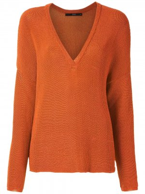 Трикотажный пуловер Eva. Цвет: коричневый
