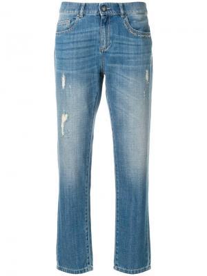 Зауженные к низу джинсы Ash. Цвет: синий