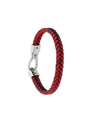Braided bracelet Tod's. Цвет: красный