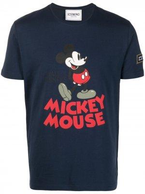 Футболка с принтом Mickey Mouse Iceberg. Цвет: синий