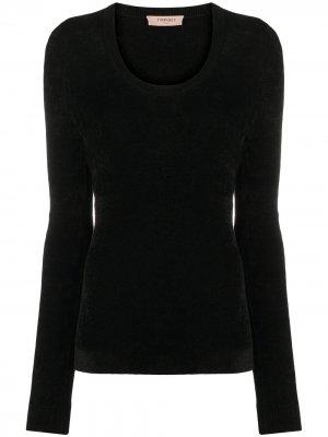 Джемпер с длинными рукавами TWINSET. Цвет: черный