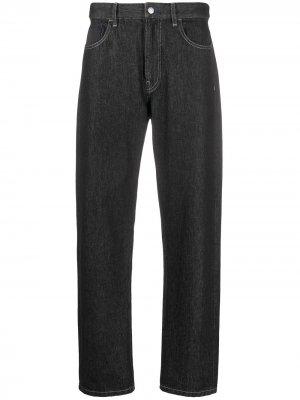 Широкие джинсы с завышенной талией Koché. Цвет: черный