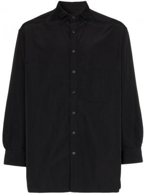 Рубашка с двойным воротником Yohji Yamamoto. Цвет: черный