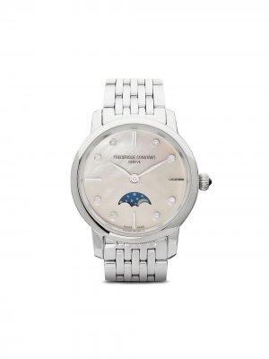 Наручные часы Slimline Ladies Moonphase 30 мм Frédérique Constant. Цвет: белый