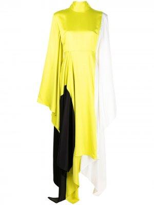 Платье Ella с длинными рукавами Solace London. Цвет: разноцветный