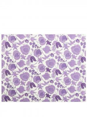 Набор из двух салфеток под приборы с цветочным принтом La Doublej. Цвет: фиолетовый