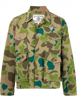 Куртка с камуфляжным принтом Billionaire Boys Club. Цвет: зеленый