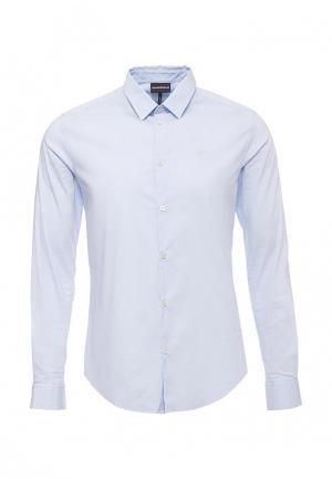 Рубашка Emporio Armani. Цвет: голубой