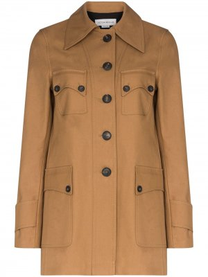 Куртка в стиле сафари Victoria Beckham. Цвет: коричневый