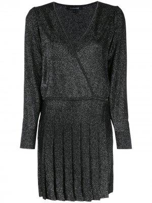 Платье с запахом и V-образным вырезом Cushnie. Цвет: черный