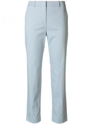 Прямые укороченные брюки Mantu. Цвет: синий