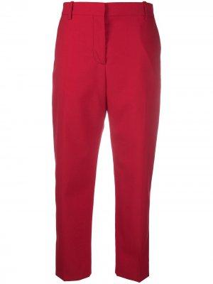 Укороченные строгие брюки кроя слим Marni. Цвет: красный