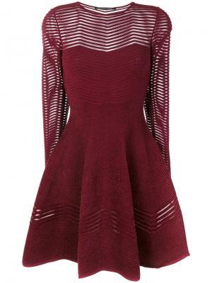 Расклешенное платье с длинными рукавами Antonino Valenti. Цвет: розовый
